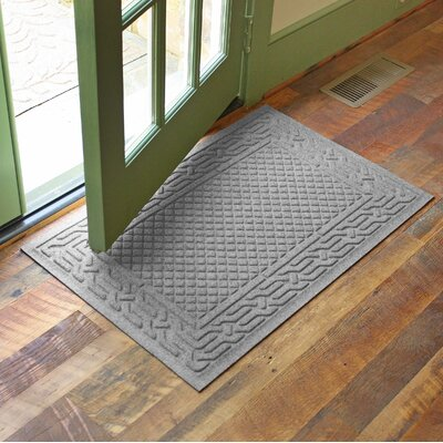 Olivares Acropolis Doormat Color: Medium Gray, Rug Size: 24 x 36