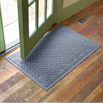 Olivares Acropolis Doormat Color: Bluestone, Rug Size: Rectangle 24 x 36