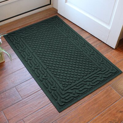 Olivares Acropolis Doormat Color: Evergreen, Rug Size: Rectangle 30 x 45