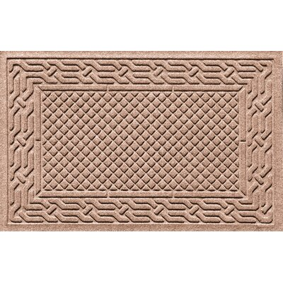 Olivares Acropolis Doormat Color: Camel, Mat Size: Rectangle 24 x 36