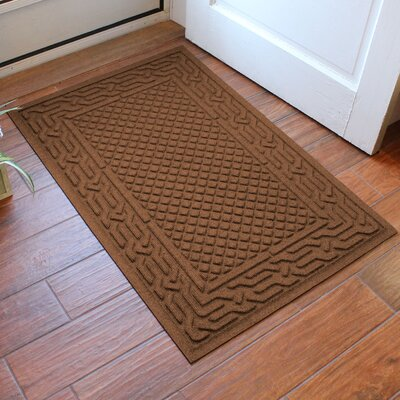 Olivares Acropolis Doormat Color: Dark Brown, Rug Size: Rectangle 30 x 45