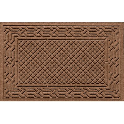 Olivares Acropolis Doormat Color: Dark Brown, Mat Size: Rectangle 30 x 45