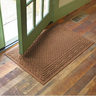 Olivares Acropolis Doormat Color: Dark Brown, Rug Size: Rectangle 24 x 36