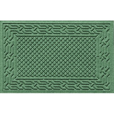 Olivares Acropolis Doormat Color: Light Green, Mat Size: Rectangle 30 x 45