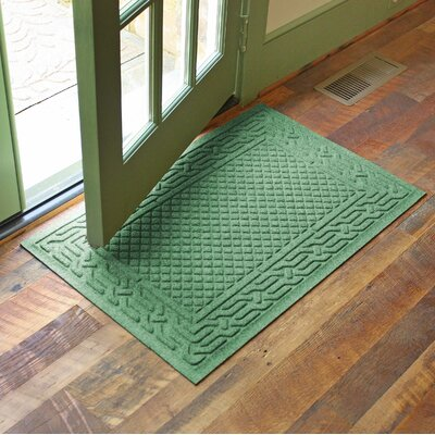 Olivares Acropolis Doormat Color: Light Green, Rug Size: Rectangle 24 x 36