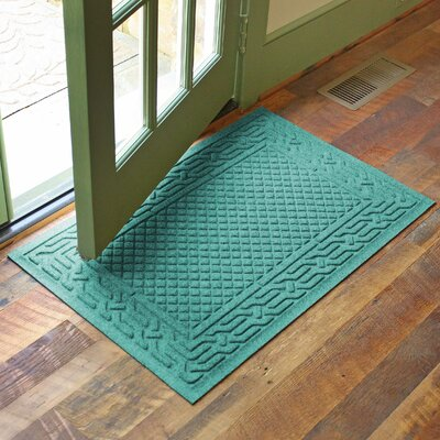 Olivares Acropolis Doormat Color: Aquamarine, Rug Size: Rectangle 24 x 36