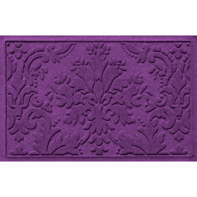 Olivares Damask Doormat Rug Size: 2 x 3, Color: Purple