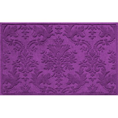 Olivares Damask Doormat Rug Size: Rectangle 210 x 44, Color: Purple