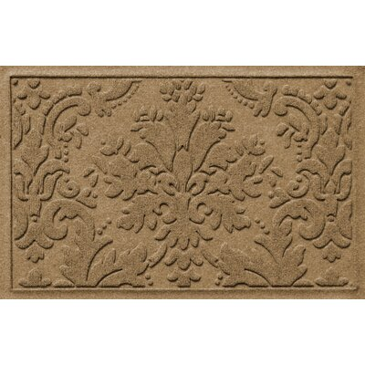 Olivares Damask Doormat Mat Size: Rectangle 210 x 44, Color: Camel