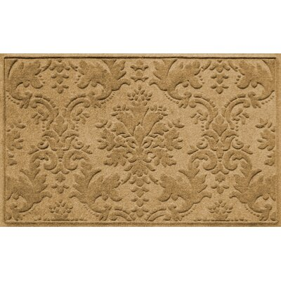 Olivares Damask Doormat Rug Size: Rectangle 210 x 44, Color: Camel