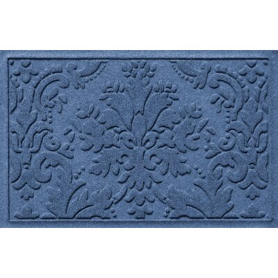 Olivares Damask Doormat Rug Size: 2 x 3, Color: Medium Blue