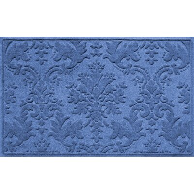 Olivares Damask Doormat Rug Size: Rectangle 210 x 44, Color: Medium Blue