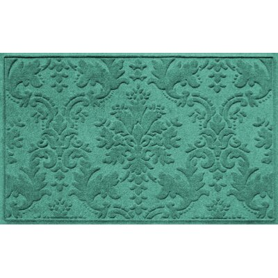 Olivares Damask Doormat Rug Size: Rectangle 210 x 44, Color: Aquamarine