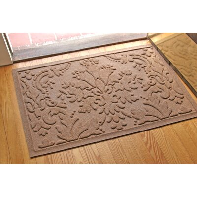 Olivares Damask Doormat Rug Size: 2 x 3, Color: Medium Brown