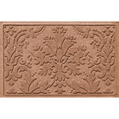 Olivares Damask Doormat Mat Size: Rectangle 2 x 3, Color: Medium Brown