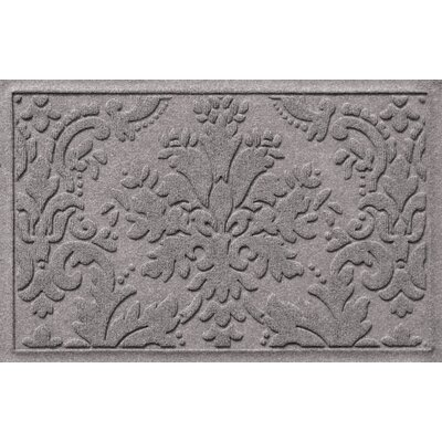 Olivares Damask Doormat Rug Size: 2 x 3, Color: Medium Gray