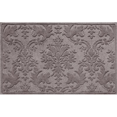 Olivares Damask Doormat Mat Size: Rectangle 2 x 3, Color: Medium Gray