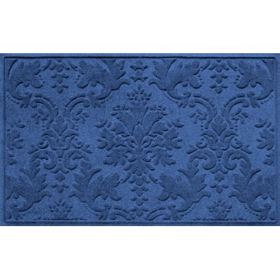 Olivares Damask Doormat Rug Size: Rectangle 210 x 44, Color: Navy