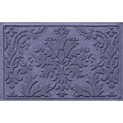 Olivares Damask Doormat Mat Size: Rectangle 2 x 3, Color: Bluestone