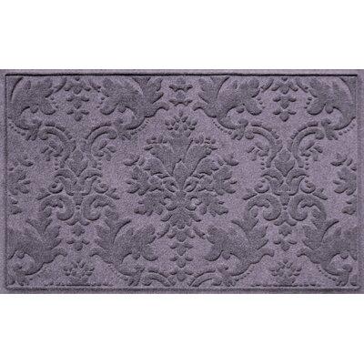 Olivares Damask Doormat Rug Size: Rectangle 210 x 44, Color: Bluestone