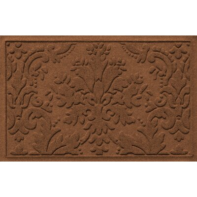 Olivares Damask Doormat Rug Size: 2 x 3, Color: Dark Brown