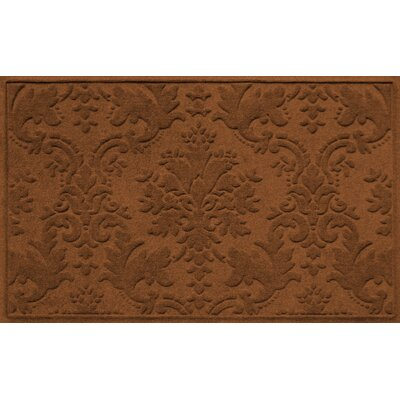 Olivares Damask Doormat Rug Size: Rectangle 210 x 44, Color: Dark Brown