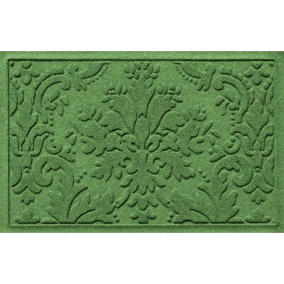 Olivares Damask Doormat Mat Size: Rectangle 2 x 3, Color: Light Green