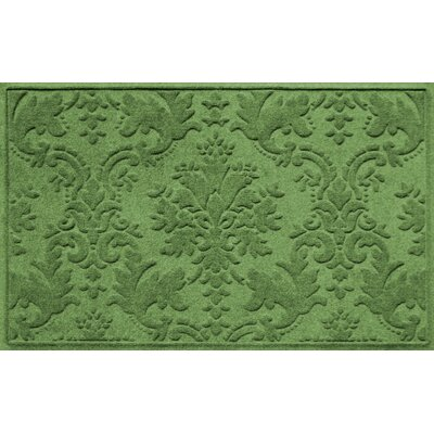 Olivares Damask Doormat Rug Size: 210 x 44, Color: Light Green