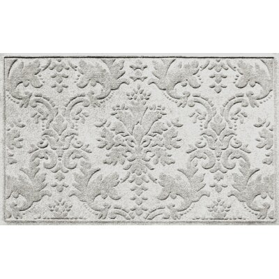 Olivares Damask Doormat Rug Size: Rectangle 210 x 44, Color: White