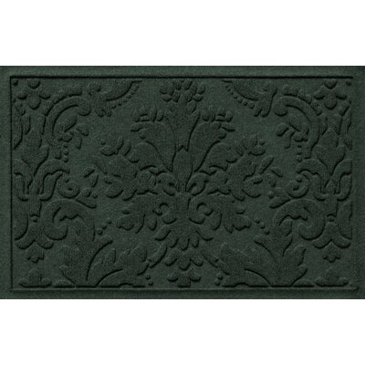 Olivares Damask Doormat Mat Size: Rectangle 2 x 3, Color: Evergreen