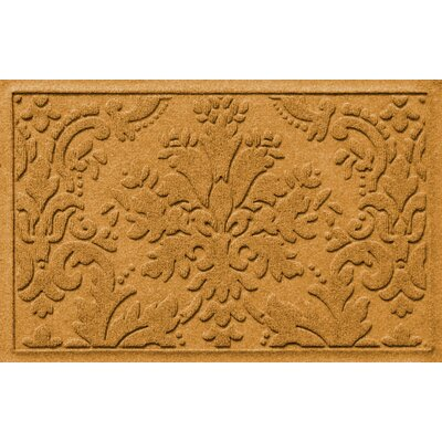 Olivares Damask Doormat Rug Size: Rectangle 2 x 3, Color: Yellow