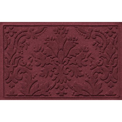 Olivares Damask Doormat Rug Size: Rectangle 2 x 3, Color: Bordeaux