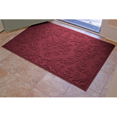 Olivares Damask Doormat Rug Size: 210 x 44, Color: Bordeaux