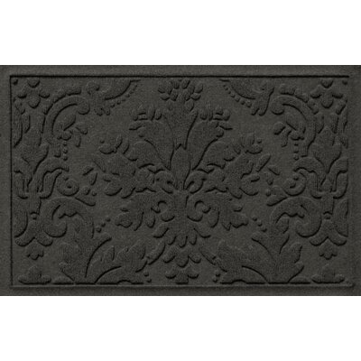 Olivares Damask Doormat Mat Size: Rectangle 210 x 44, Color: Charcoal