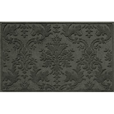 Olivares Damask Doormat Rug Size: Rectangle 210 x 44, Color: Charcoal