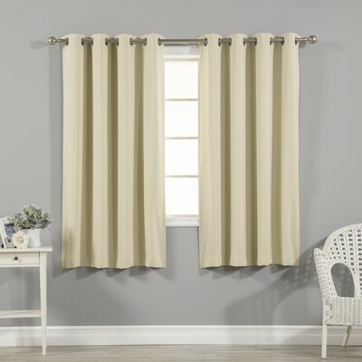 Schaeffer Grommet Top Insulated Blackout Thermal Curtain Panels