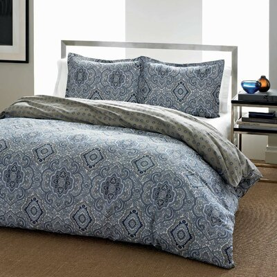 Olive 3 Piece Comforter Set Size: Full / Queen, Color: Blue / Gray