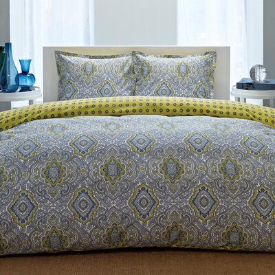 Olive 3 Piece Comforter Set Size: King, Color: Blue / Yellow