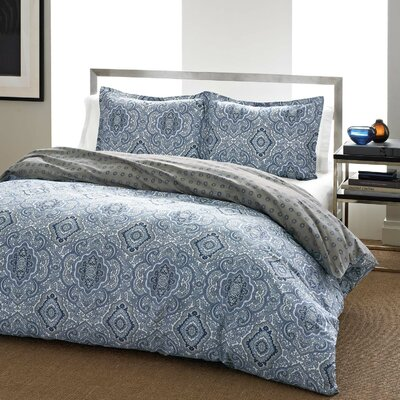 Olive Reversible Duvet Cover Set Size: Full / Queen, Color: Blue