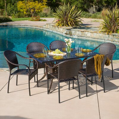 Alcott Hill Rosier 7 Piece Dining Set