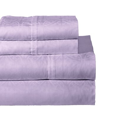 Rundell 300 Thread Count Cotton Sheet Set Size: Full, Color: Lavender