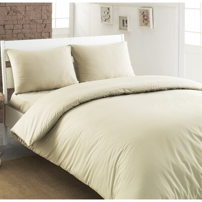 Ryles 100% Turkish Cotton Duvet Cover Color: Sand Warm, Size: King