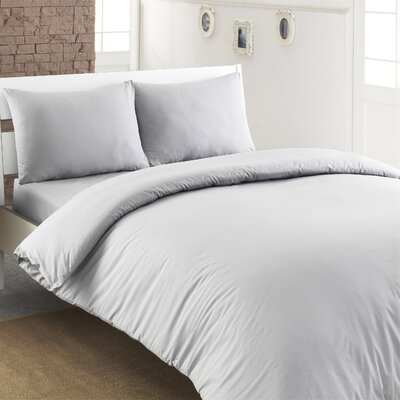 Ryles 100% Turkish Cotton Duvet Cover Color: Silver Gray, Size: King