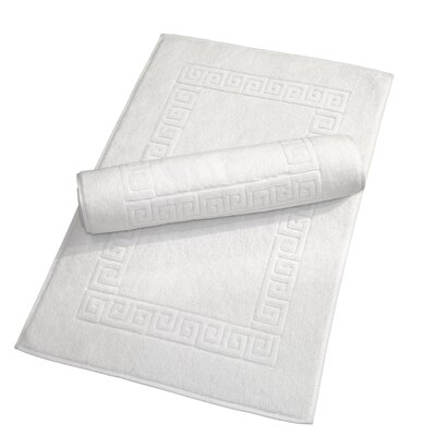 Sabanc Turkish Cotton Greek Key Bath Mat
