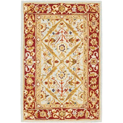 Baytown Blue/Red Rug Rug Size: 39 x 59