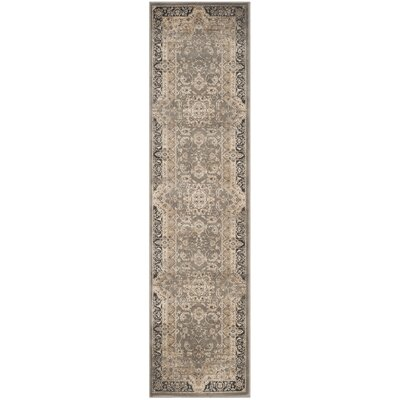 Pepperidge Taupe/Black Area Rug Rug Size: Runner 22 x 12