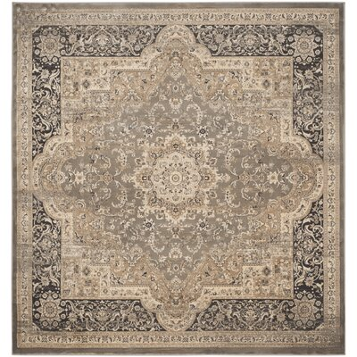 Pepperidge Taupe/Black Area Rug Rug Size: Square 67