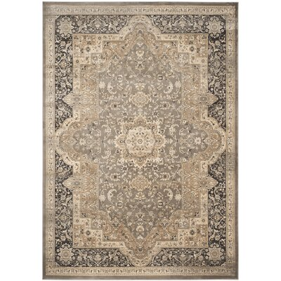 Pepperidge Taupe/Black Area Rug Rug Size: 51 x 77