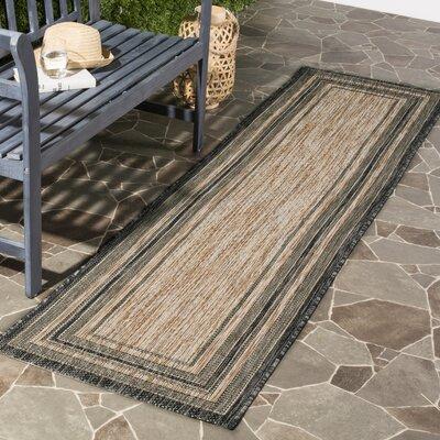 Rockbridge Natural/Black Indoor/Outdoor Area Rug Rug Size: Runner 23 x 12