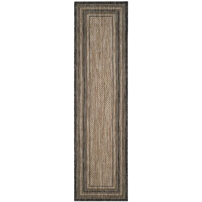 Rockbridge Natural/Black Indoor/Outdoor Area Rug Rug Size: Runner 23 x 12
